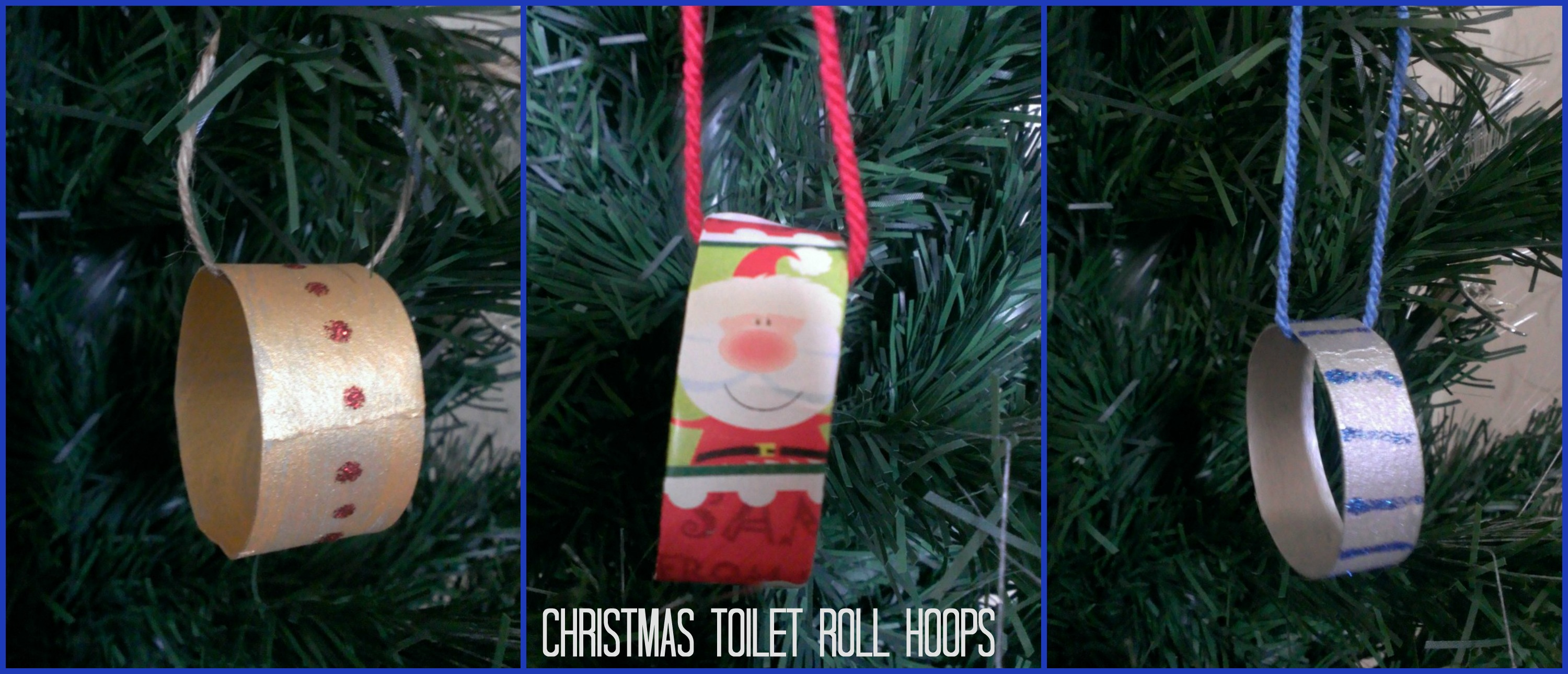Christmas Toilet Roll Hoops