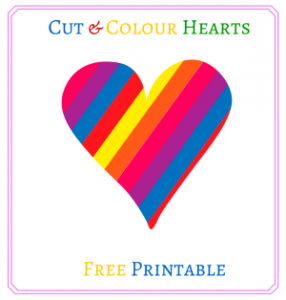 Free Printable Cut & Colour Hearts