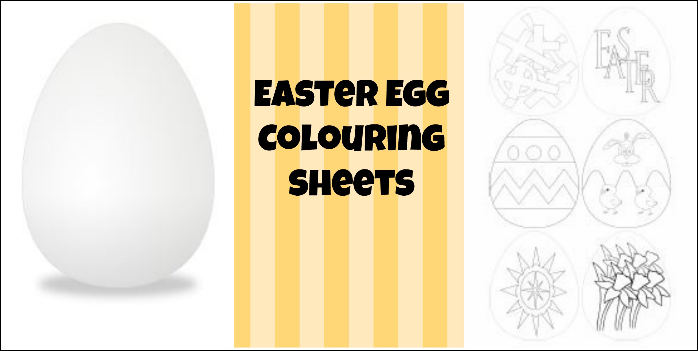 Easter Egg Colouring Sheets