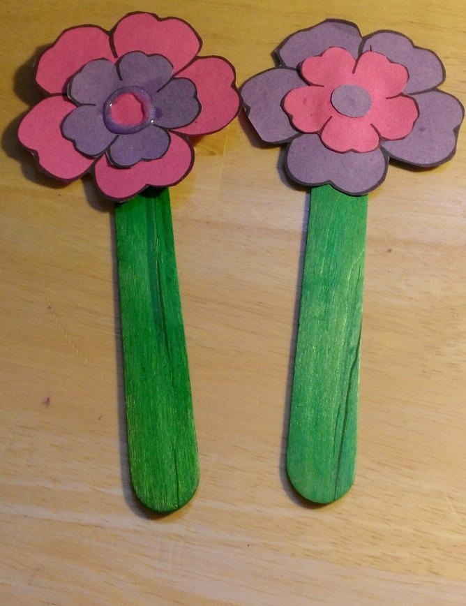 Mothers Day Flower Bookmark