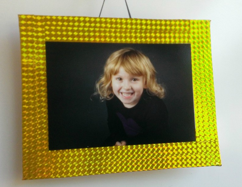 Cereal Box Photo Frame Gold
