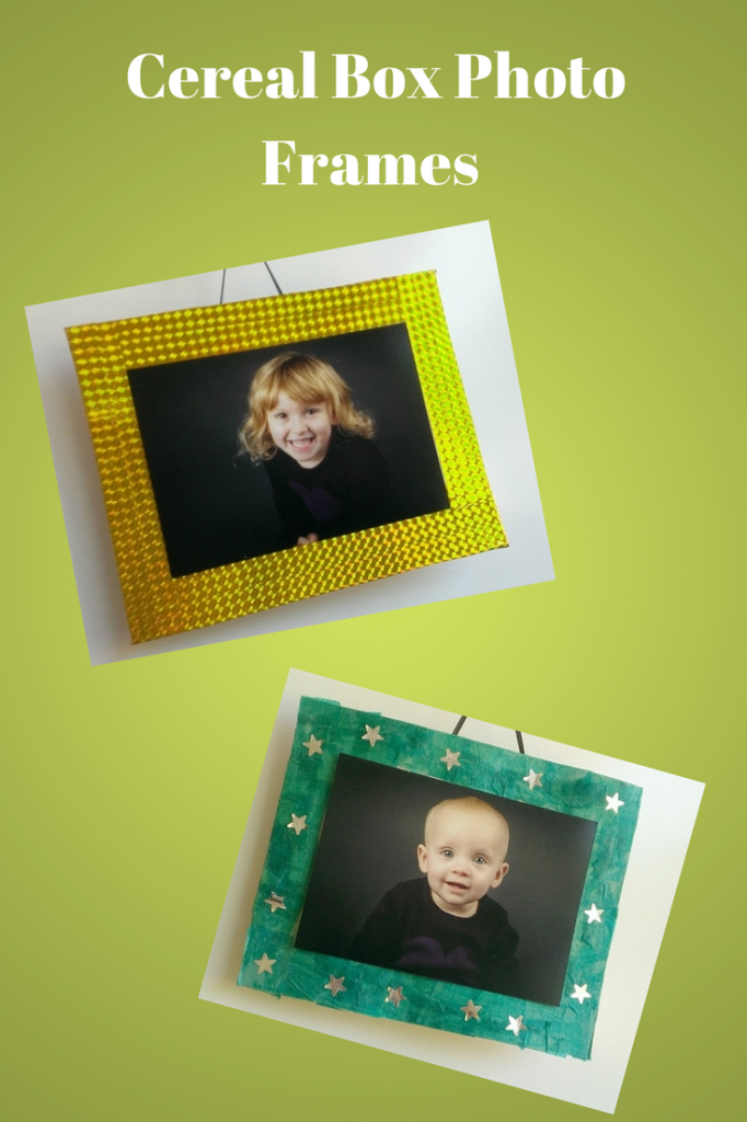 Cereal Box Photo Frames