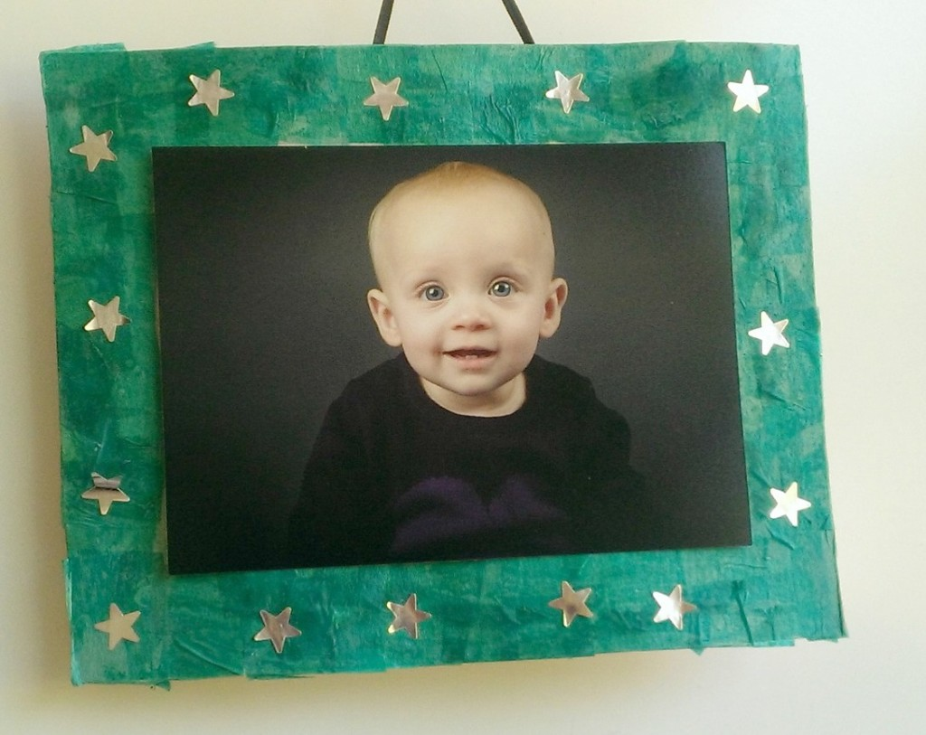 Decoupage Cereal Box Photo Frame