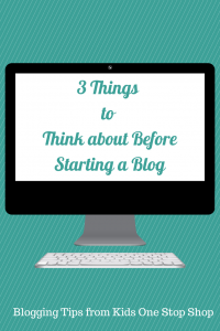 3 Things to Think about Before Starting