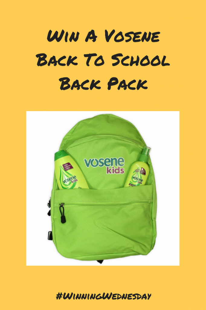 Win A Vosene Back To School Back Pack