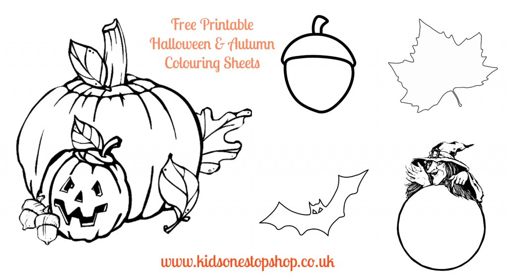 Free Printable Halloween & Autumn Colouring Sheets