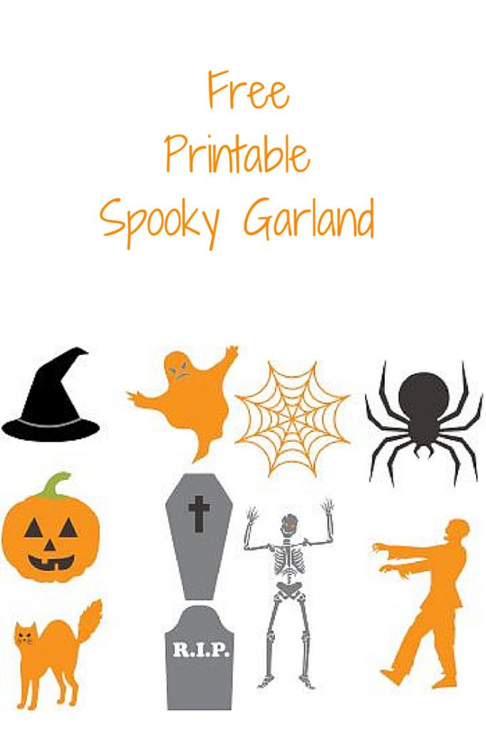 Free Printable Spooky Garland
