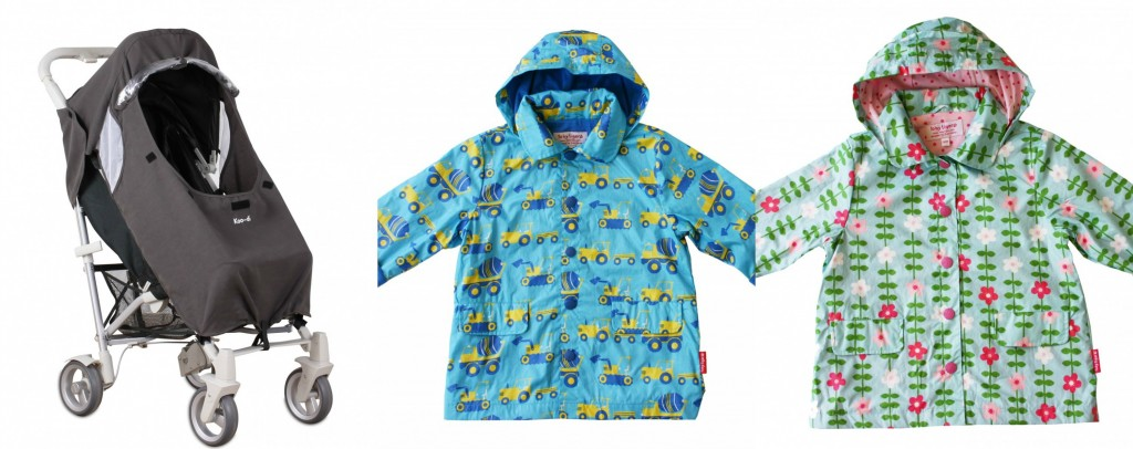 Toby Tiger Rain Coats and Purflo Rain Cover