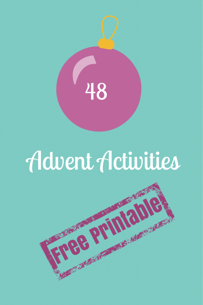 48 Advent Activies with Free Printable
