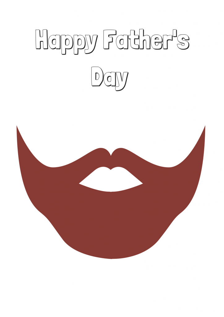 Father's Day Printable: Beard