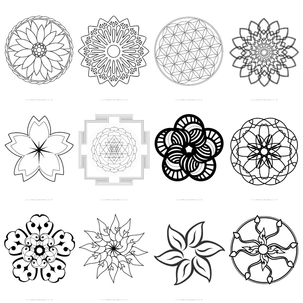 12 Adult Colouring Sheets