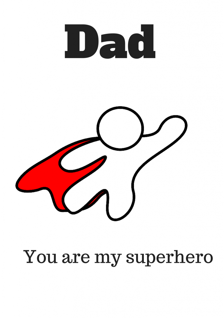 Superhero Dad Free Printable