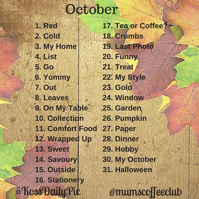 October #KossDailyPic
