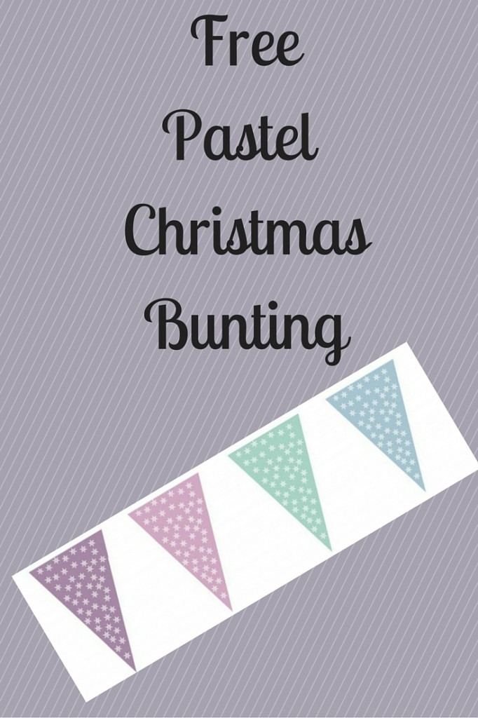 Free Pastel Christmas Bunting P