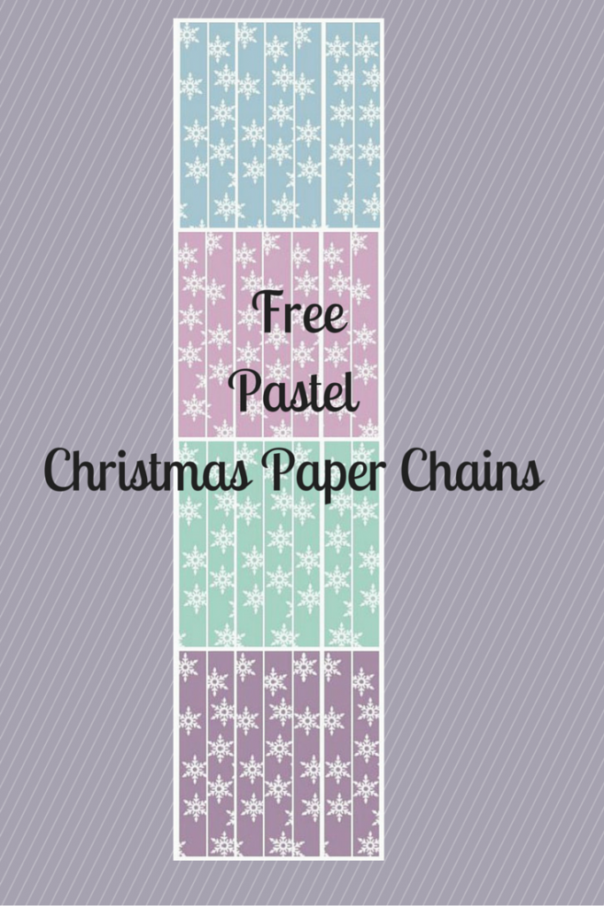 FreePastel Christmas Paper Chains